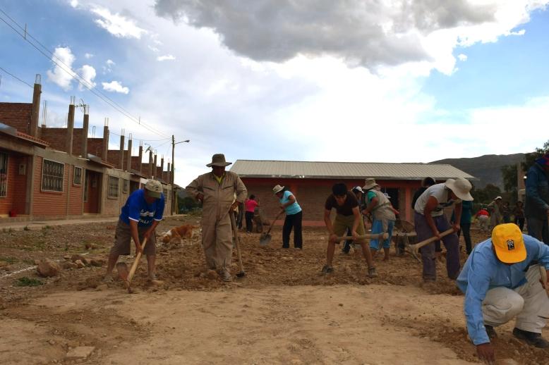 Cooperativa Virgen del Rosario (COVIVIR), Municipio Sipe Sipe, Cochabamba. Segunda cooperativa en ser consolidada. We Effect apoyó la compra y construcción de las viviendas. Actualmente está en espera de la concretización de financiamiento estatal, lo que le permitiría ser el primer proyecto financiado por el gobierno nacional. Foto: EAT-MACOVAM